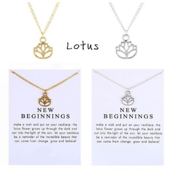 Boutique Jewelry New Beginnings Lotus Necklace Poshmark